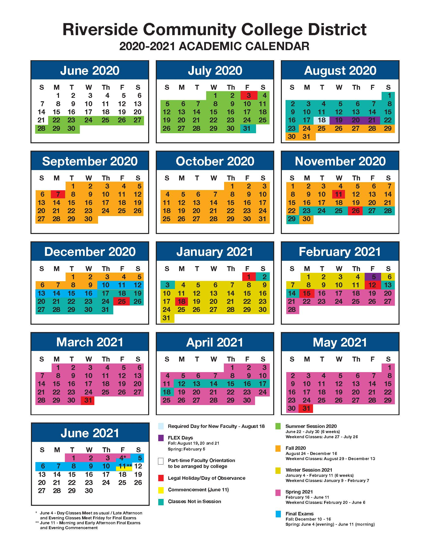 Pictures of Summer 2021 Academic Calendar